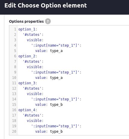 Edit option element